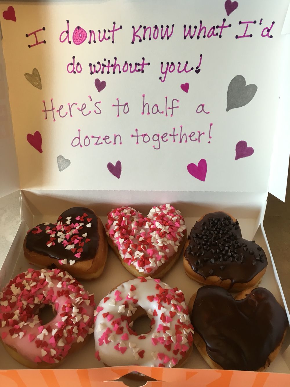 6th wedding anniversary gift 6 month anniversary donut anniversary gift could do the same for a dozen for a year