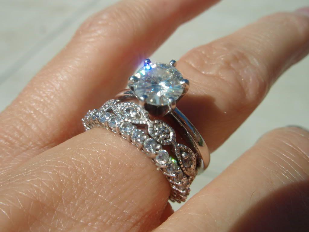 rings pretty wedding rings Stacked rings