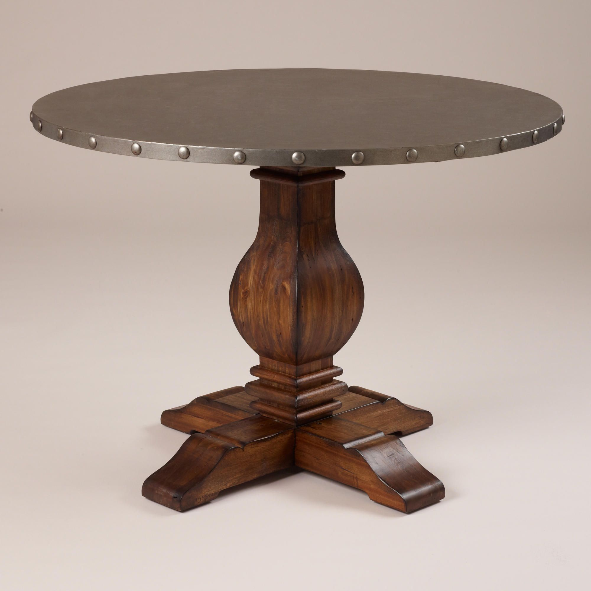 industrial kitchen table Cooper Round Dining Table