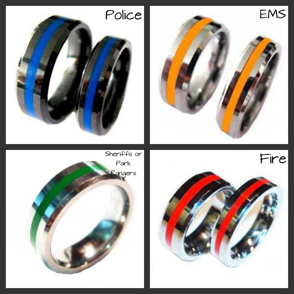 police wedding rings Brotherhood Bands www abrotherhood com Enter coupon code FCIB at checkout to receive a