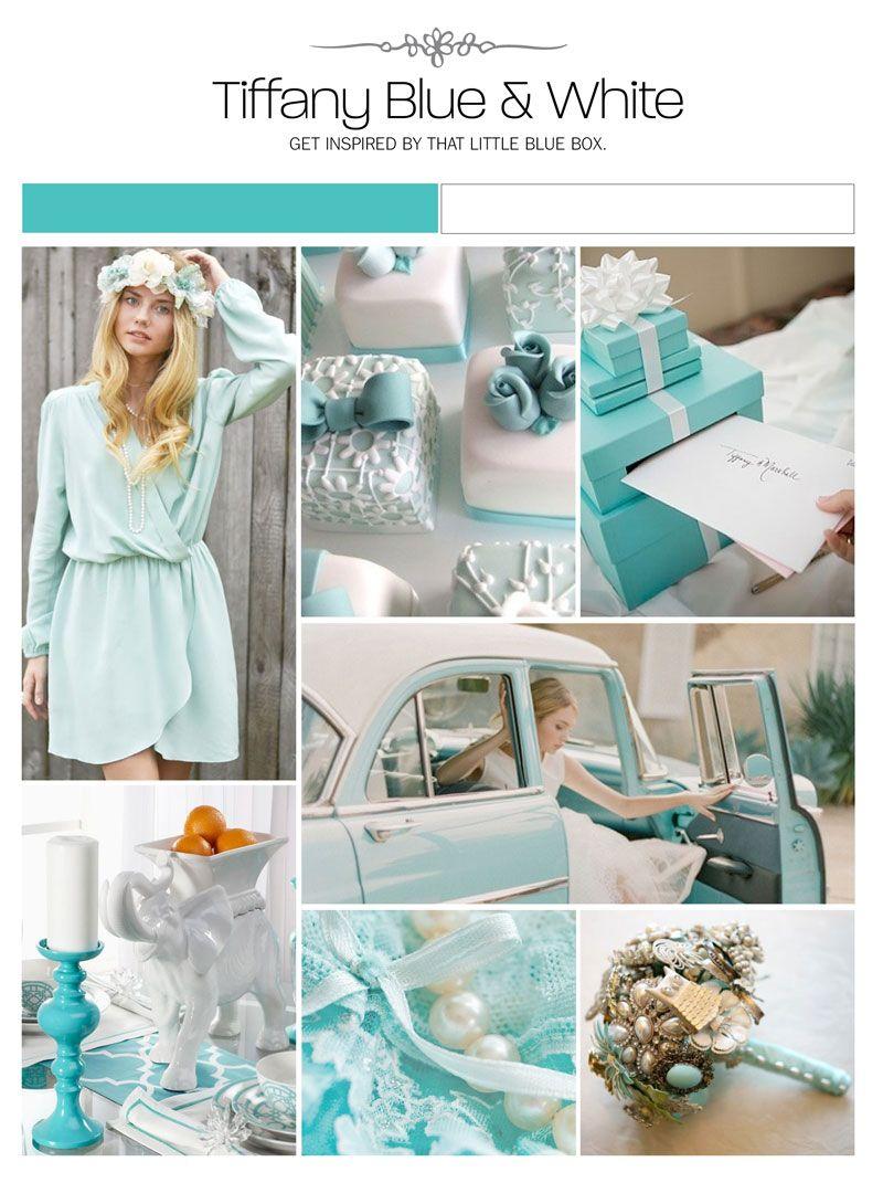 tiffany blue wedding Tiffany blue and white inspiration board color palette mood board wedding ideas