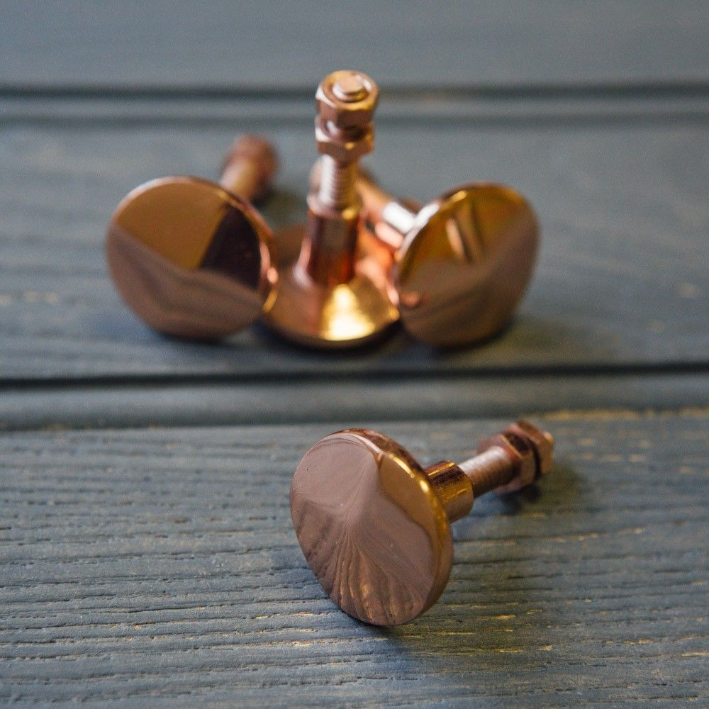 kitchen cabinet knobs Beautiful Copper plated cabinet knobs to make your furniture pop