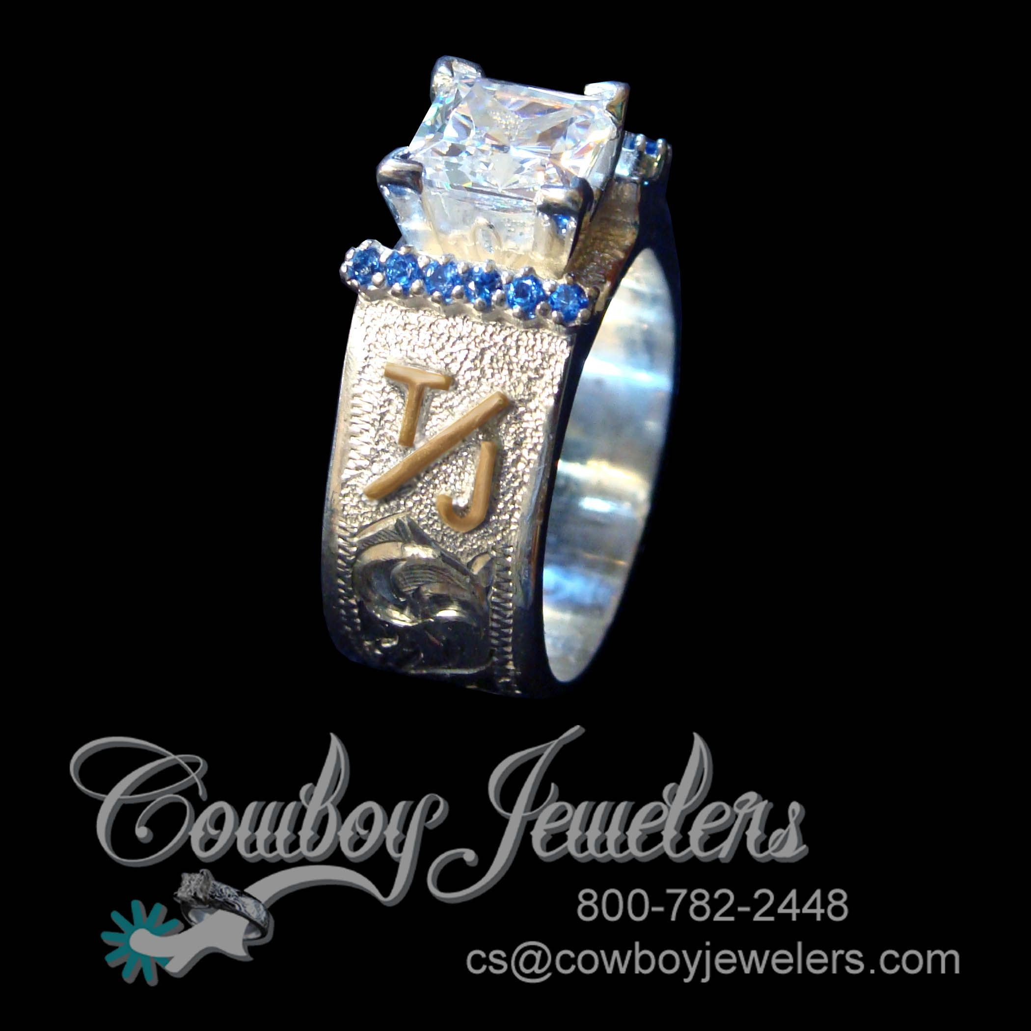 western wedding bands New stunning twist on our western wedding band Here it is shown with Sapphire