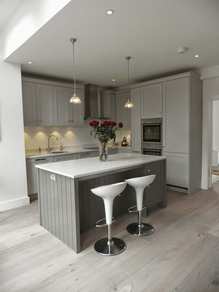 shaker kitchen island Planet Furniture Beautiful Storm Grey Shaker Kitchen Farrow and Ball Mole s Breath on the