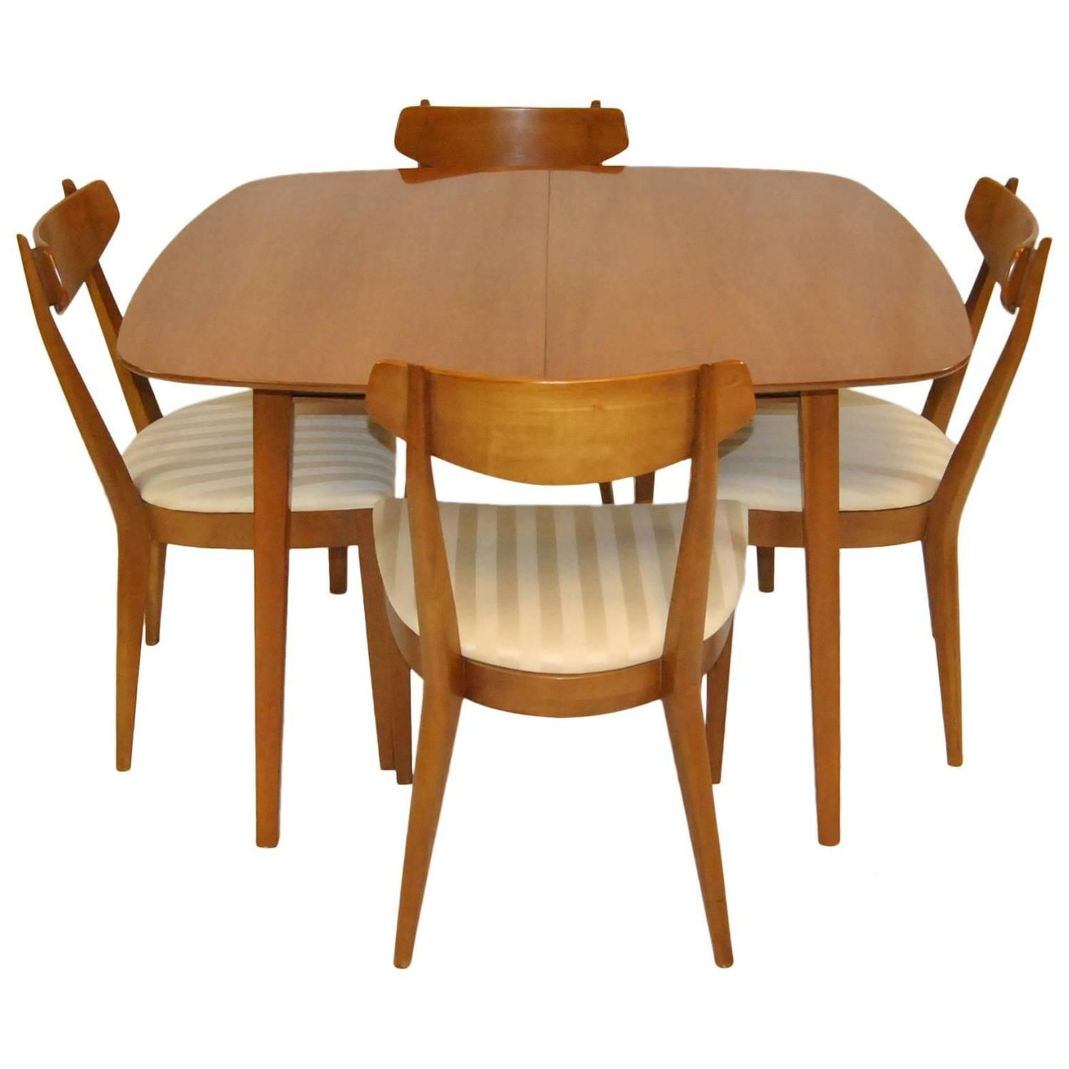 mid century kitchen chairs Mid Century Modern Dining Set by Kipp Stewart For Drexel Sun Coast Collection