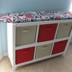 Cubby Shelf With Hinged Ironing Board Top I Am Putting This in My