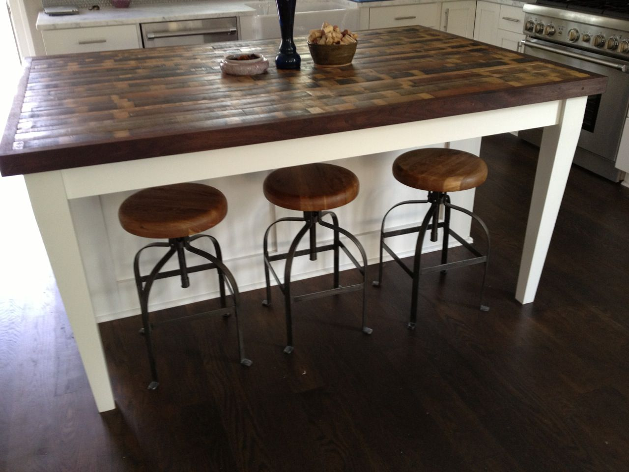 butcher block table tops kitchen island countertop Attractive Kitchen Island Design Ideas