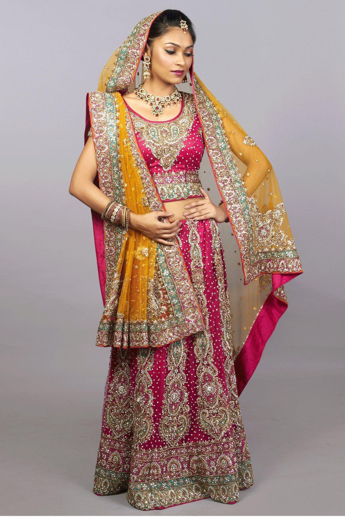 wedding lehenga Rani Pink Bridal Lehenga choli Secret Wardrobe