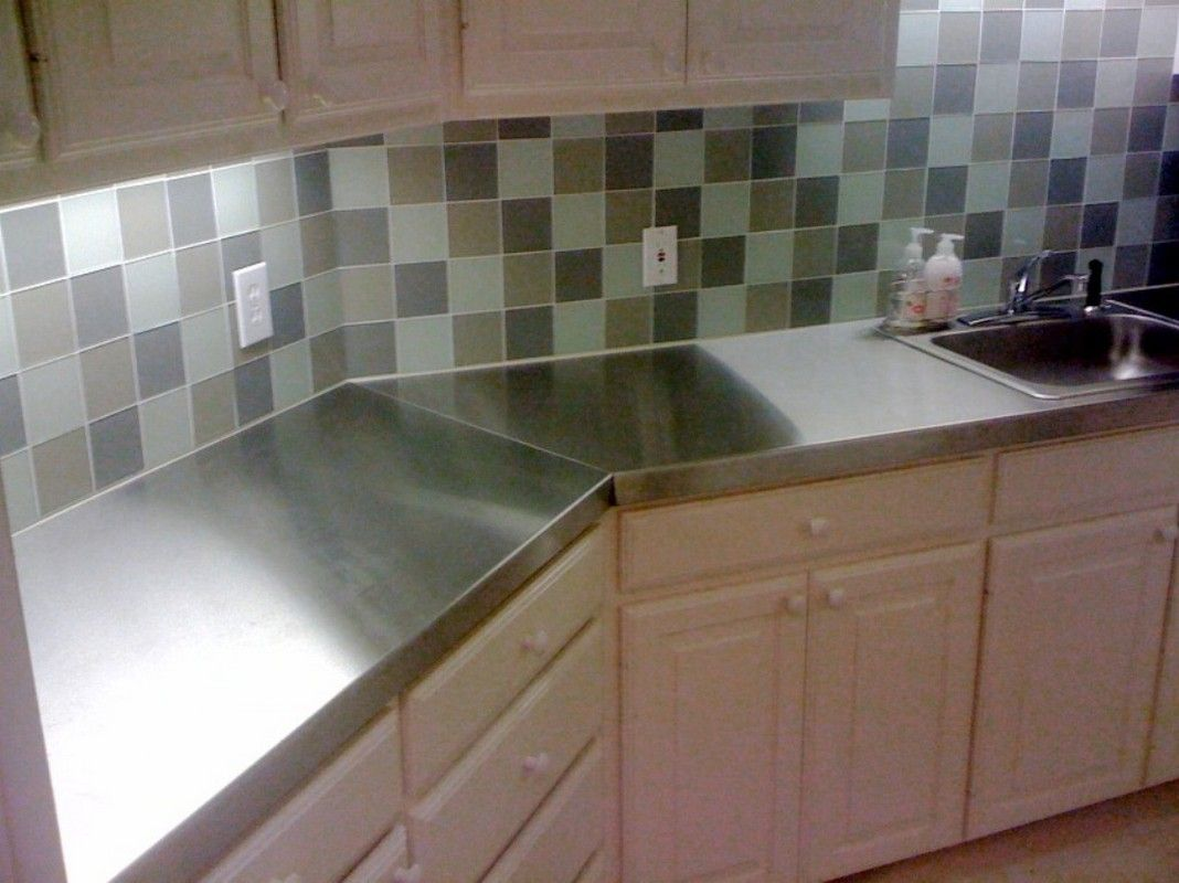 stainless steel counters stainless steel kitchen countertops specihome Gorgeous Interior And Exterior Design middot Interior L shape kitchen decorating using stainless steel counter