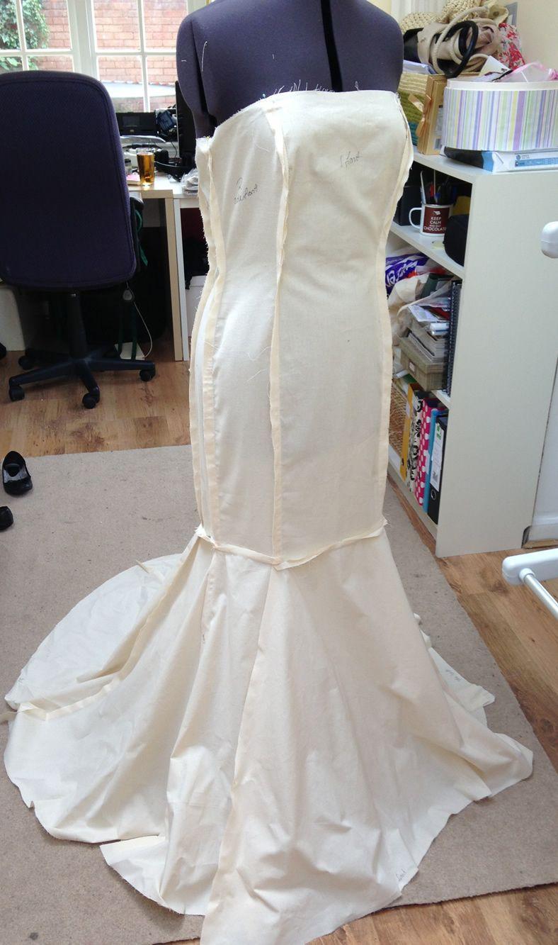 wedding dress sewing patterns Fishtail wedding dress pattern the front
