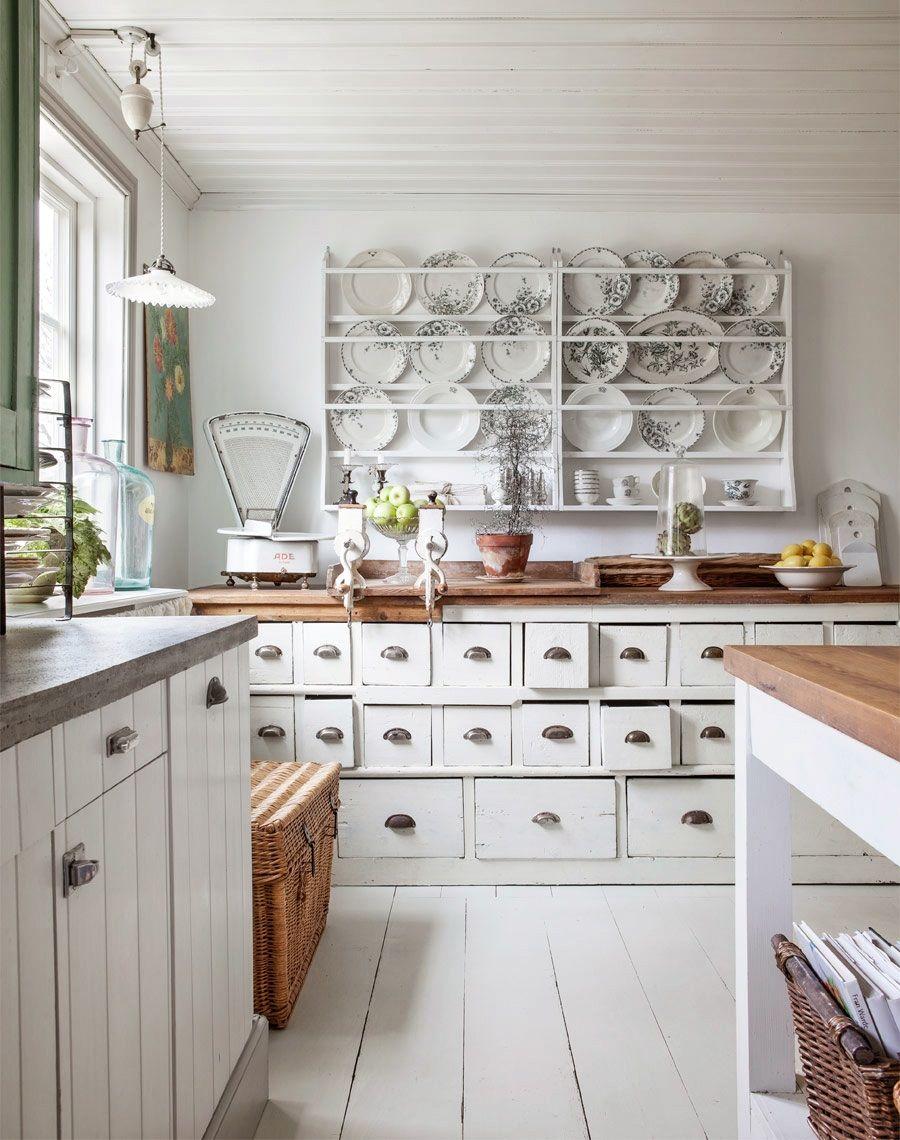 country kitchen design ideas Kitchen Gorgeous White Retro Country Kitchen Decoration Design Ideas Using Mount Wall White Wood