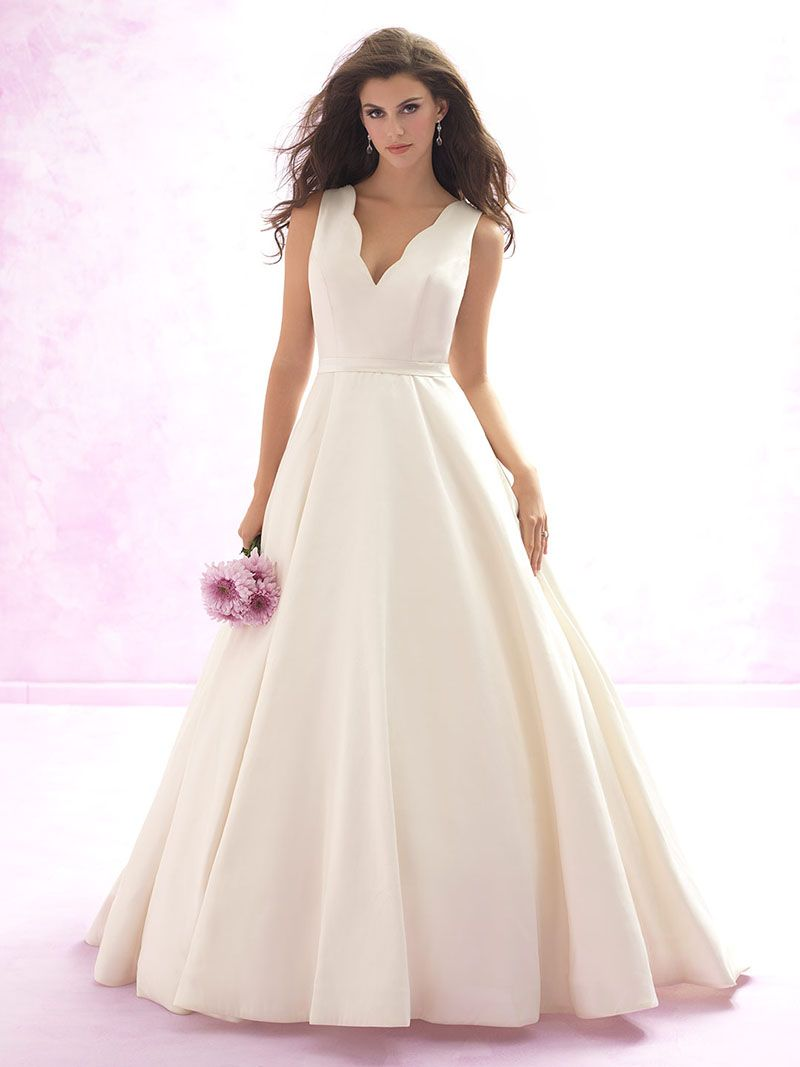 wedding ball gown dresses Sleeveless Cream Satin Ball Gown Impeccable Long Wedding Dress Lace Back