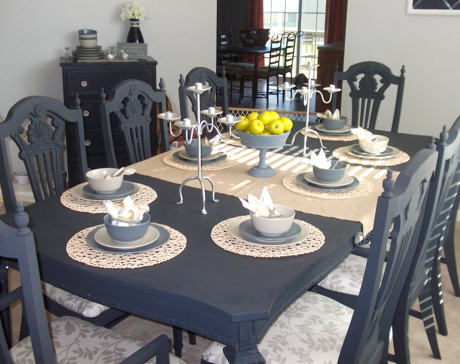 gray kitchen table paint dining table just love this dining table that Rachel from Absolutely Loving My
