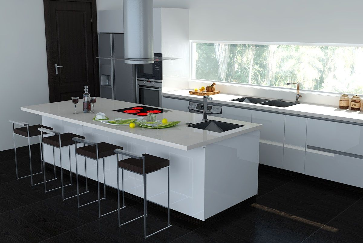 white kitchen designs 4 Tips to Increase the Colour in the White Kitchen White Kitchen Design In