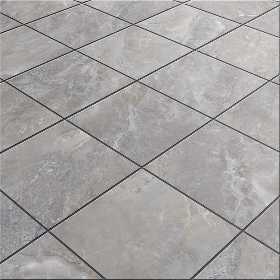 lowes kitchen flooring Shop Style Selections Tousette Gray Ceramic Floor Tile Common 13 in 13