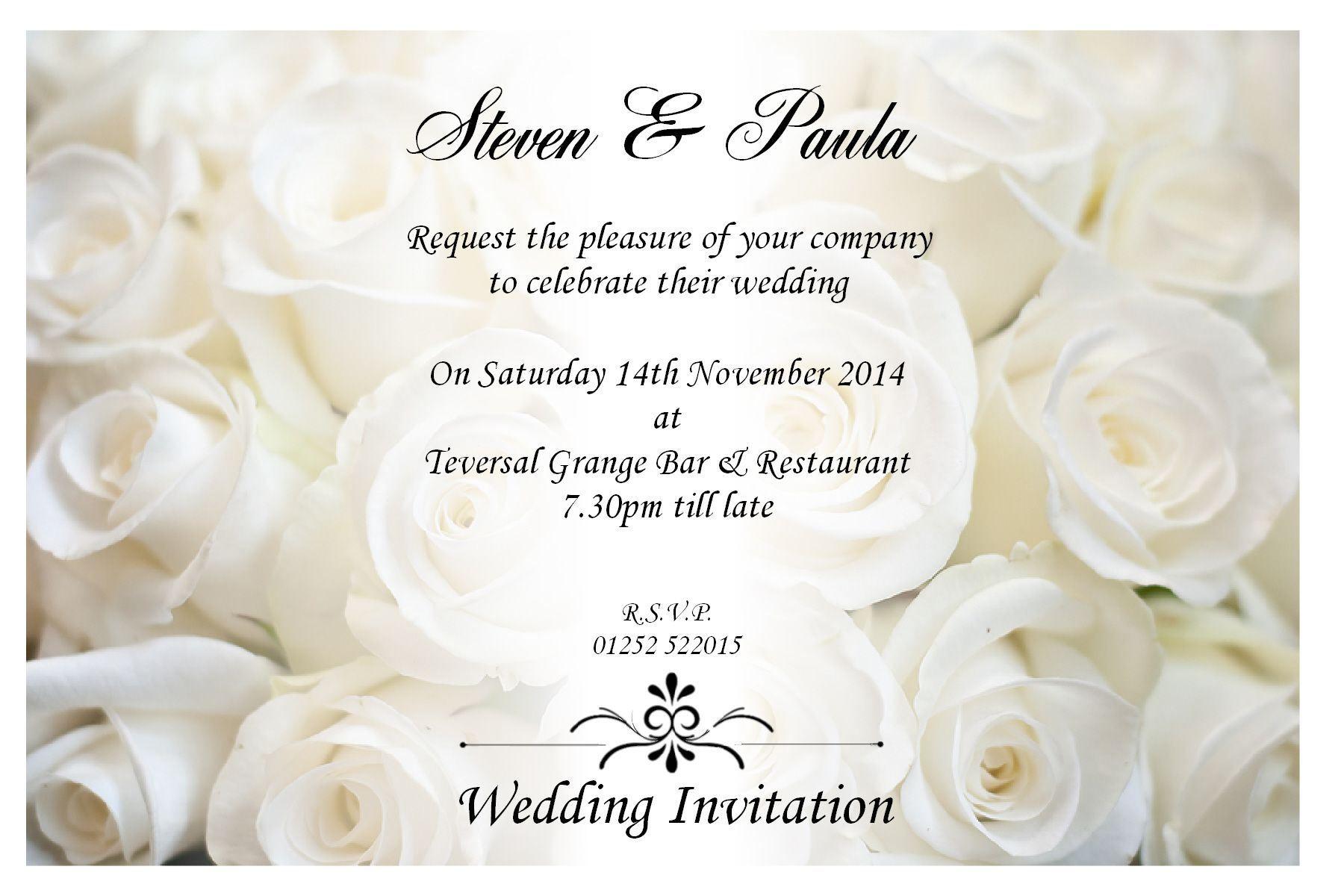 sample wedding invitations sample wedding invitation by email