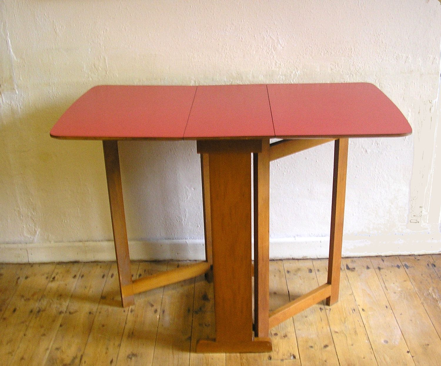 mid century kitchen table RESERVED Christina Vintage red formica top wooden kitchen dining table s s drop leaf table mid century atomic retro kitchen four