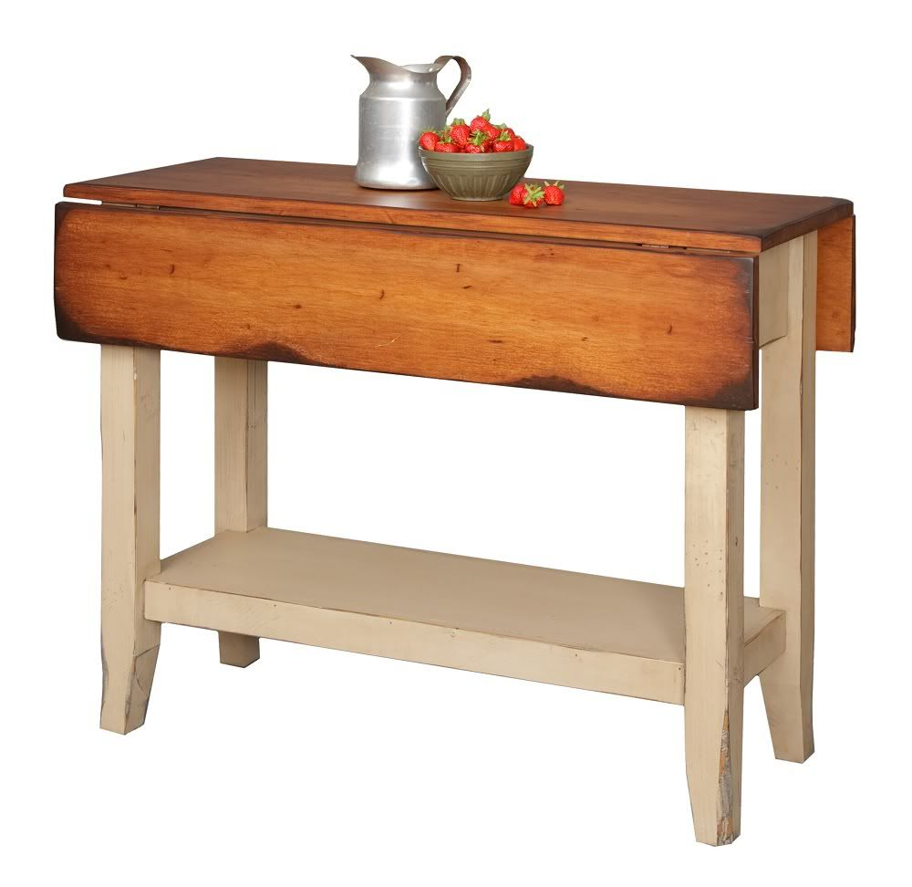 kitchen tables and more Details about Primitive Kitchen Island Table Small Drop Side Farmhouse Country Farm Furniture