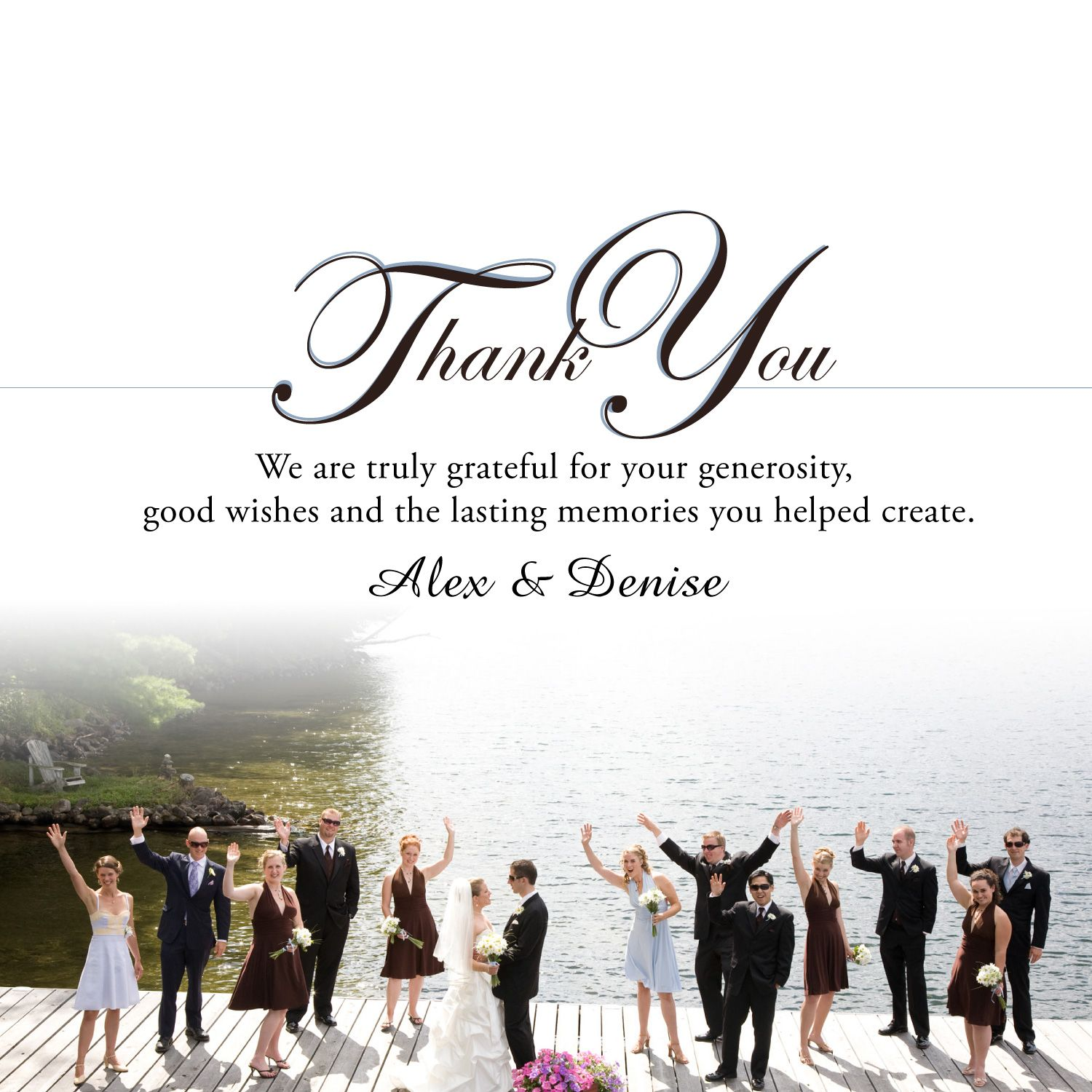 thank you wedding cards Wedding Thank You Cards in a hurry