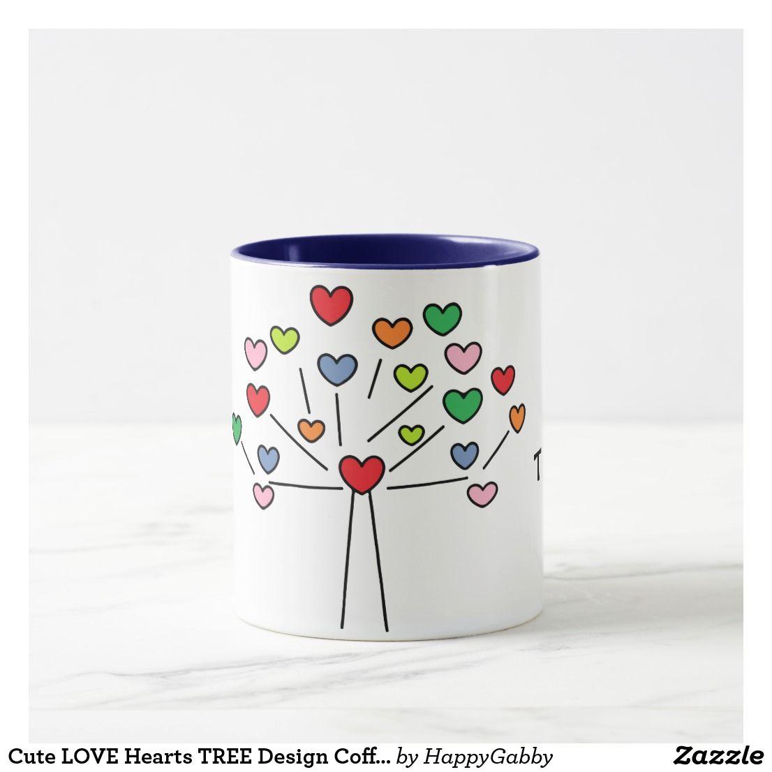 Stupendous Love Hearts Tree Design Coffee Mug Love Hearts Tree Design Coffee Mug Heart Tree Tree Designs Cup Designs furniture Cute Cup Designs