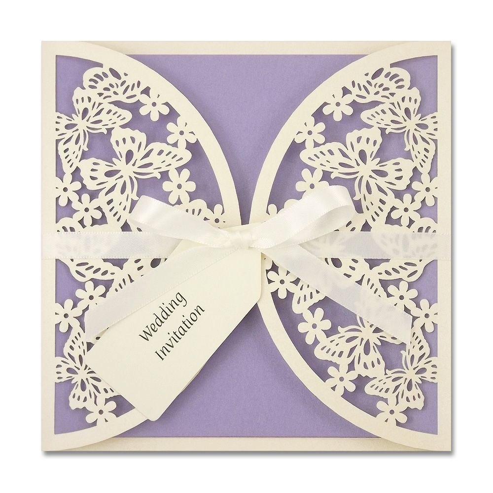 butterfly wedding invitations Find your perfect wedding invitation from our range of delicate laser cut designs