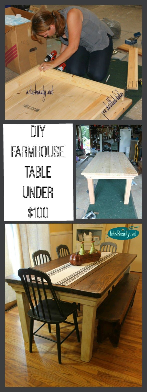 make kitchen table ART IS BEAUTY How to build your own FarmHouse Table for under I