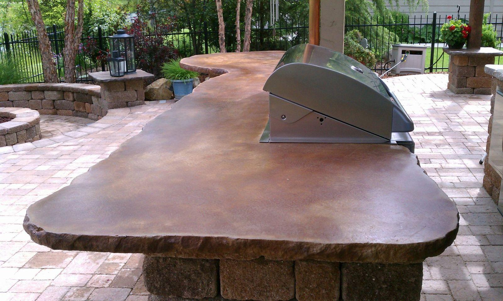 outdoor concrete countertop outdoor kitchen countertops Concrete Countertops For Outdoor Kitchen Zitzat
