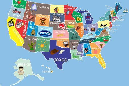 kids united states map childrens room decor childrens art