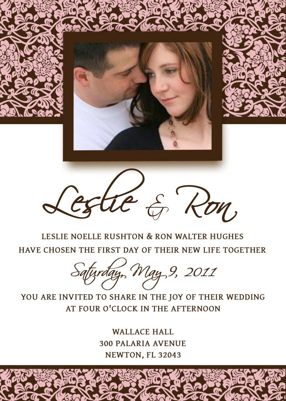 wedding invite template Homemade Wedding Invitation Template invitation templates cool invitation templates email invitation