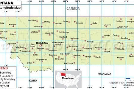 montana laude and longitude map | usa maps | pinterest