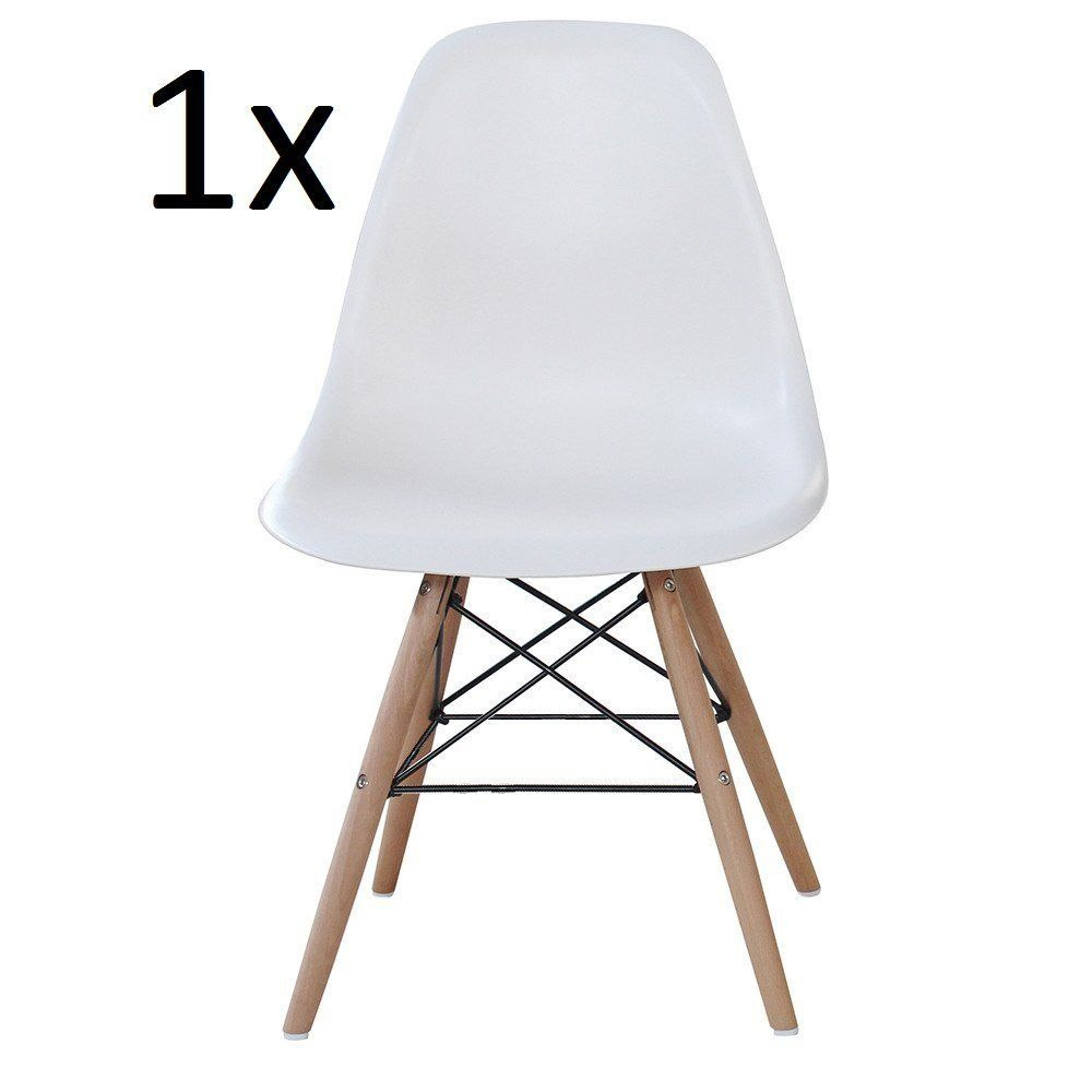 amazon kitchen chairs P N Homewares Moda Dining Chair Plastic Wood Retro Dining Chairs White Modern Furniture 1