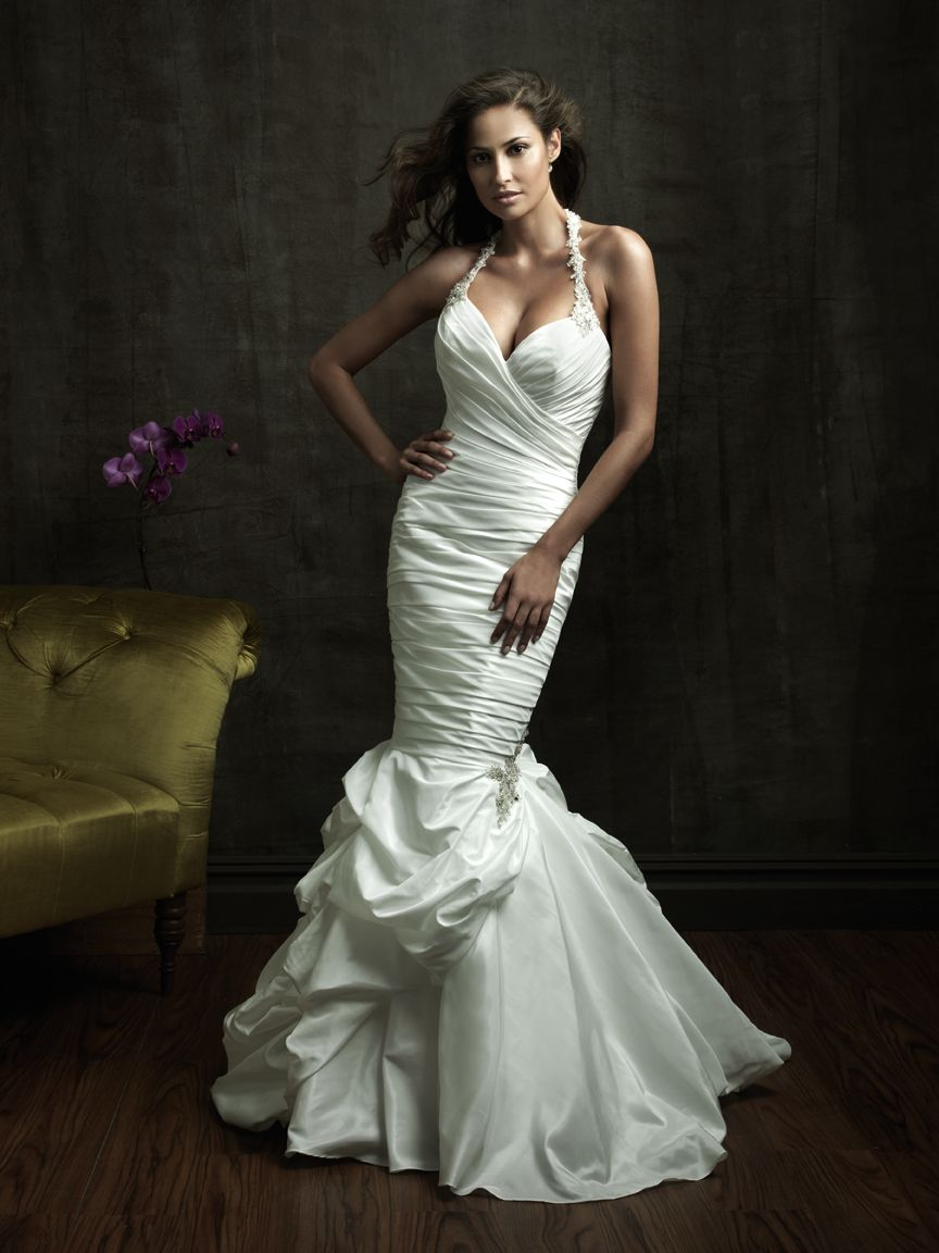 halter wedding dresses halter top wedding dresses sexy mermaid wedding dresses halter beads working mermaid ruched taffeta court train