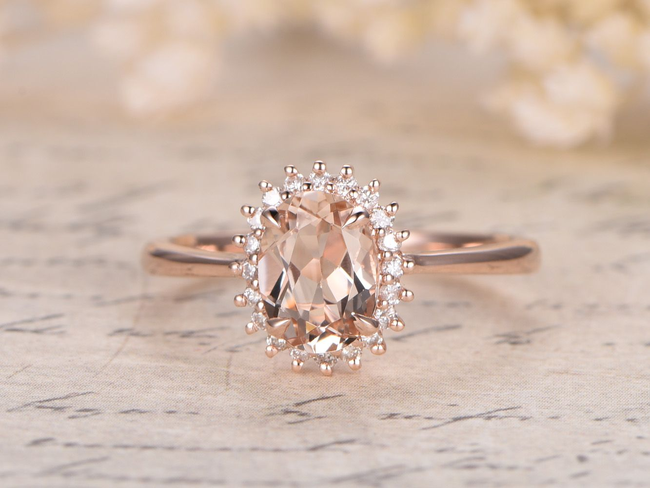 morganite engagement rings wedding rings dollars Princess Diana Ring mm Oval VS Pink Morganite Ring 14K Rose Gold Morganite Engagement