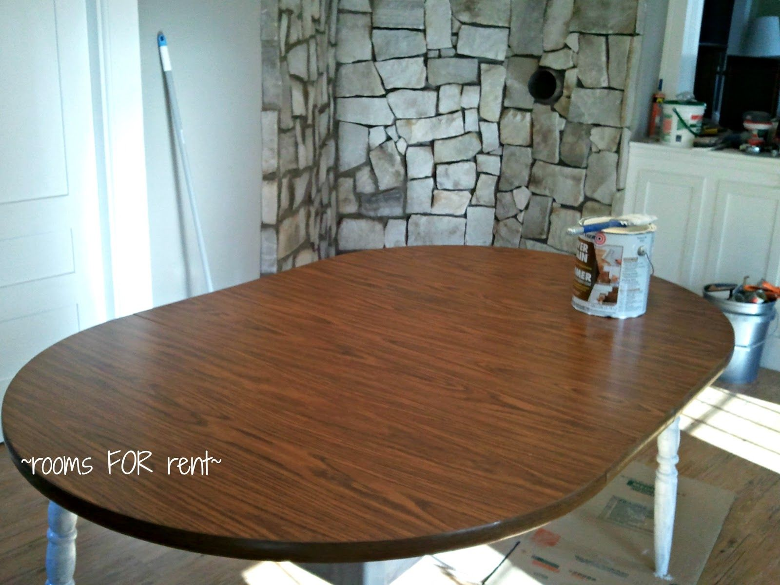 painting laminate table laminate kitchen table Table Makeover how to paint a laminate table gonna