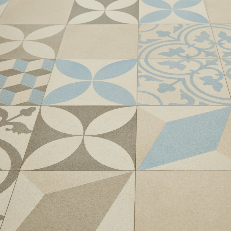 kitchen floor lino Mardi Gras Filez Moroccan Patterned Tile Vinyl Flooring