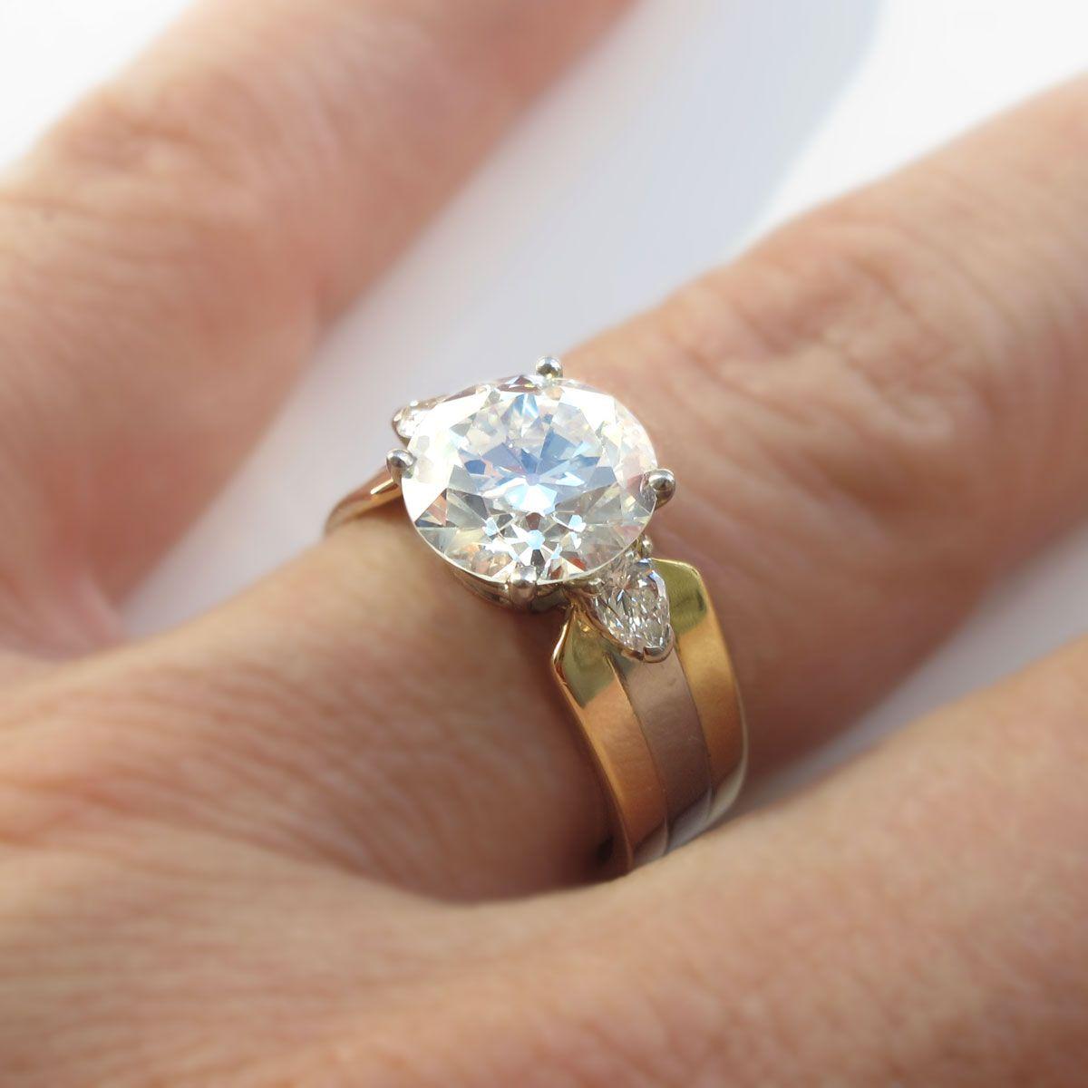 wedding ring prices Cartier 3 32 European Cut Diamond Engagement Ring