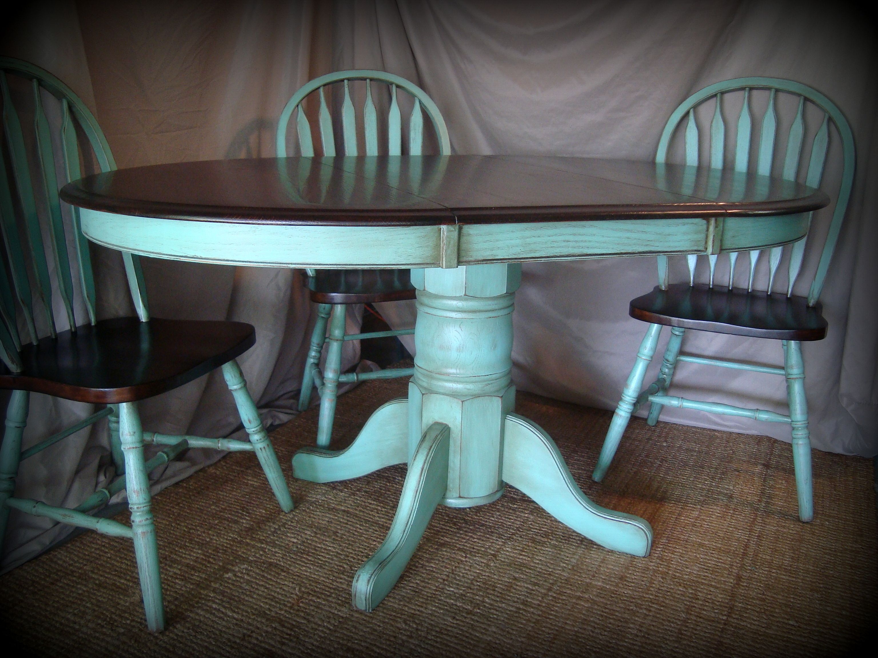 turquoise kitchen tables turquoise kitchen chairs kitchen table refinishing ideas pictures stained the table top and chairs with dark walnut