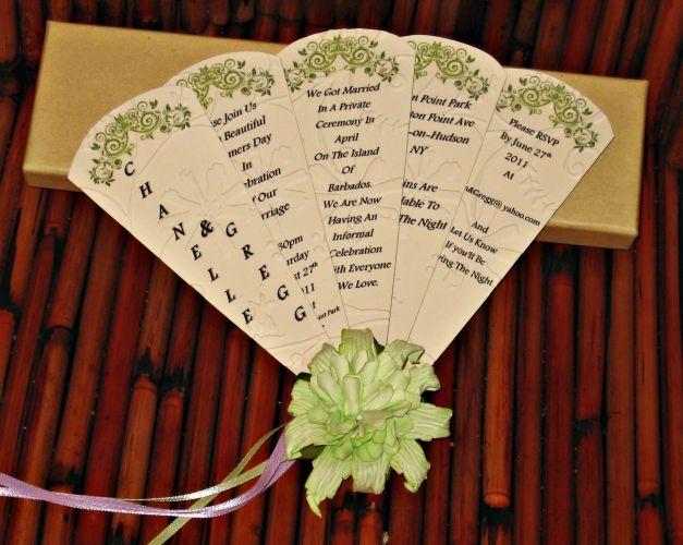 wedding card wedding fans Handmade wedding card