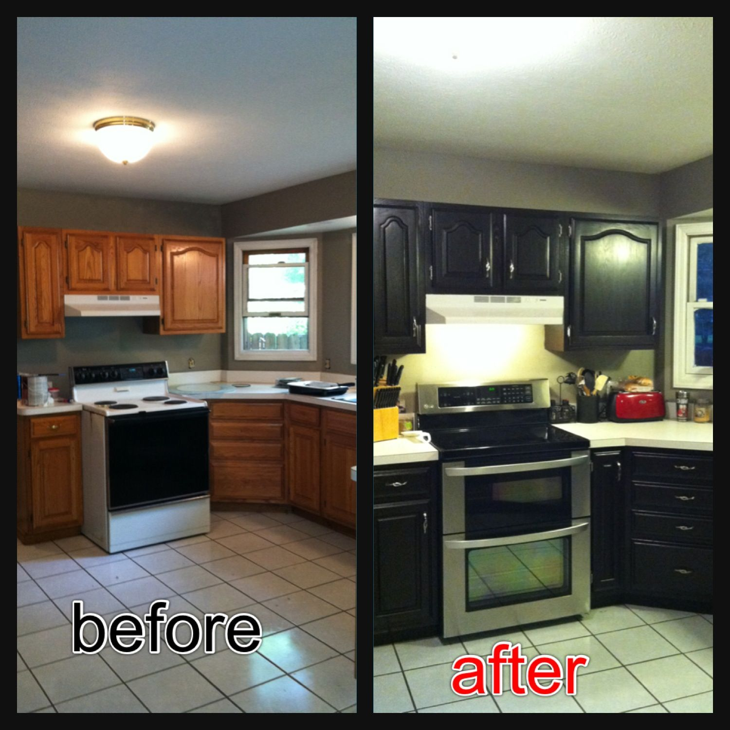 gel stain kitchen cabinets Re stained cabinets using Java Gel stain Very easy to use and love the
