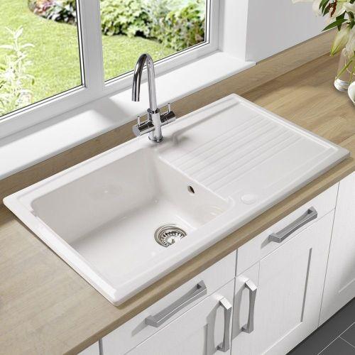 Kitchen Sink Suitable Undermount Kitchen Sink White Interior