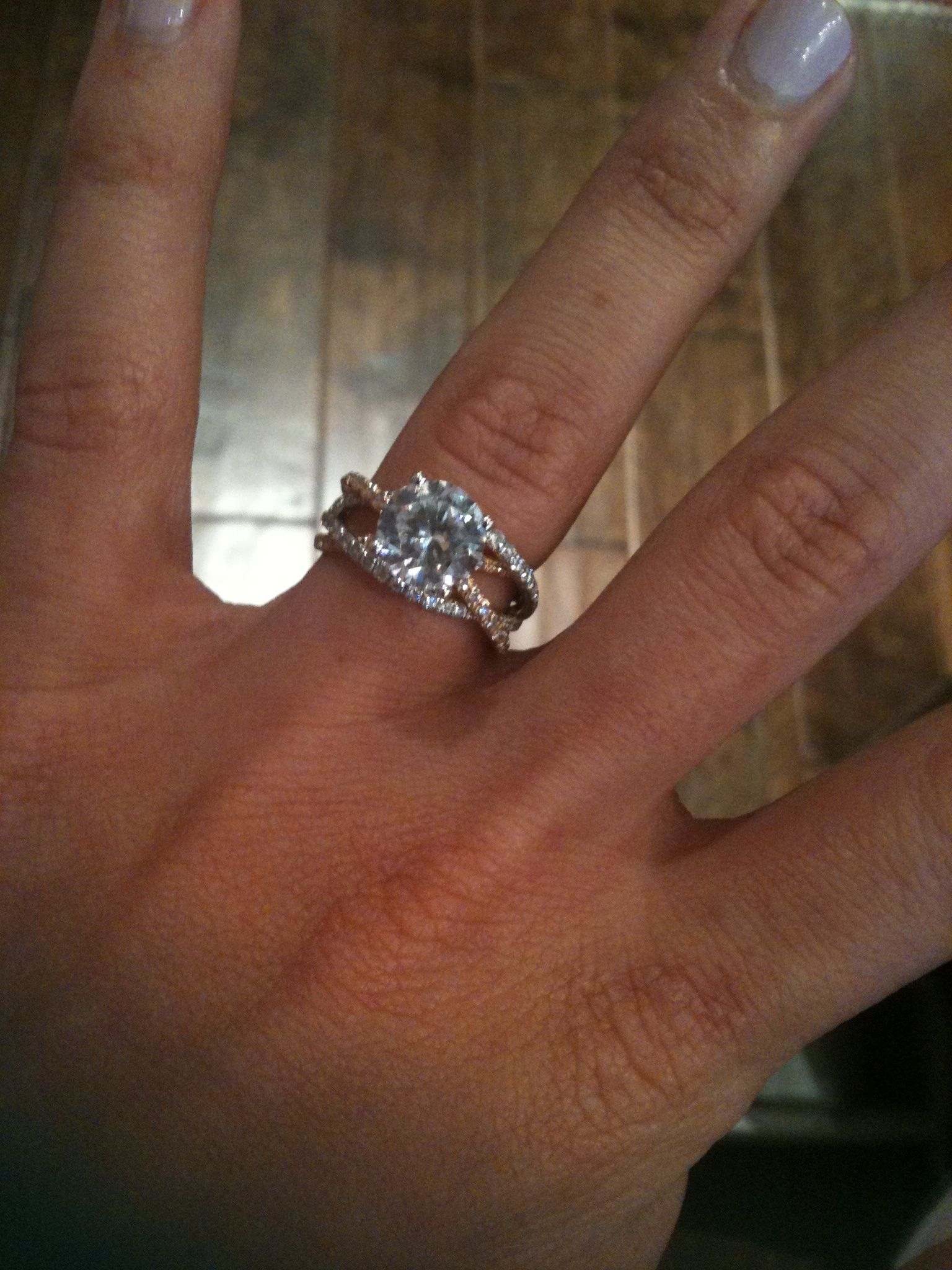 wedding ring with band msimagines My Engagement Ring by MARK SILVERSTEIN IMAGINES