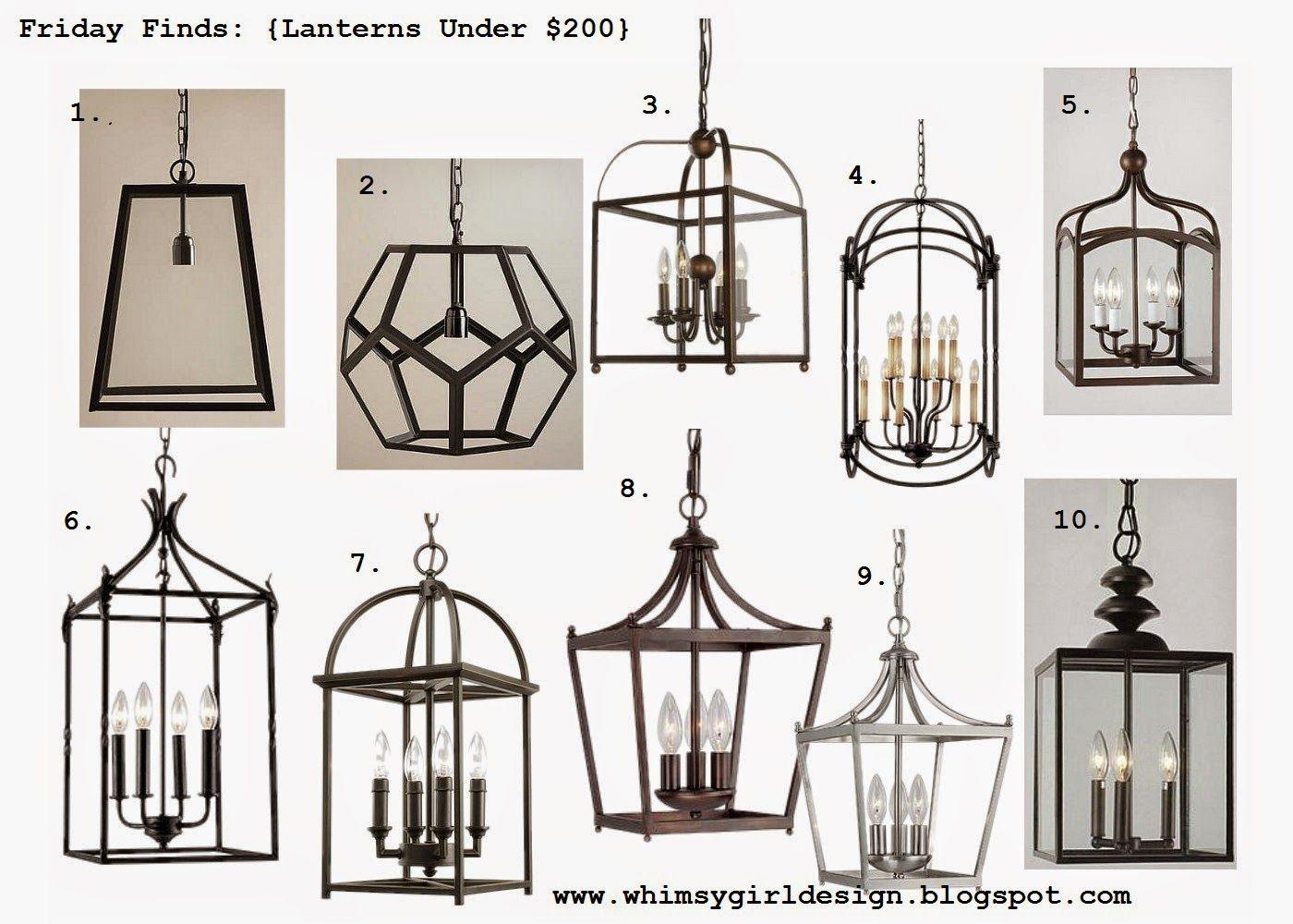 ideas lanterns lantern kitchen lighting whimsy girl Friday Finds Lanterns Under