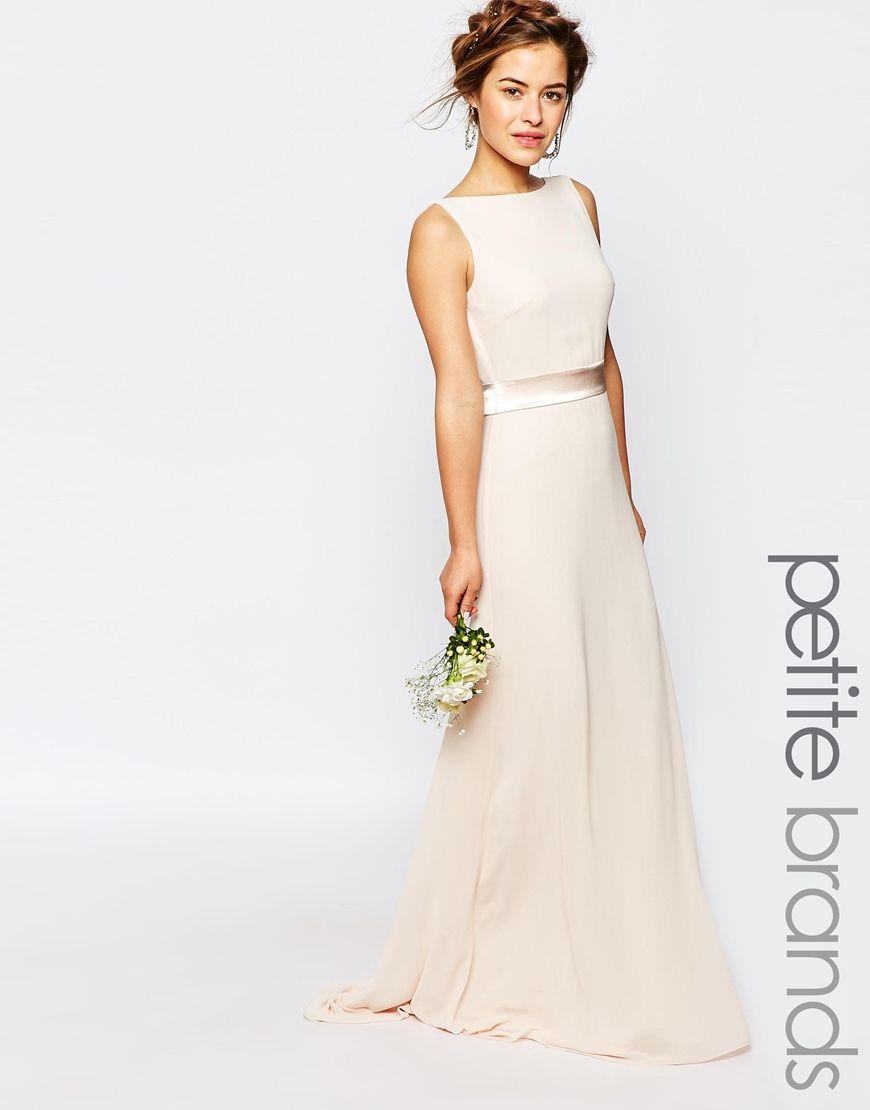 petite wedding dress TFNC Petite WEDDING Sateen Bow Back Maxi Dress