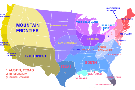 a very accurate map showing regions based on climate
