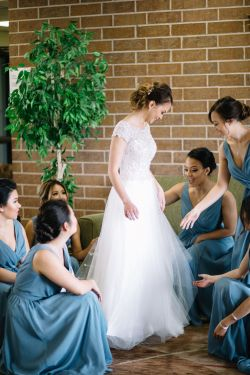 Trendy Her Dress Slate Blue Convertible Bridesmaid Dresses Slate Blue Colored Bridesmaid Dresses Slate Blue Bridesmaids Help Ir Bride Her Dress Before What A Slate Blue Bridesmaids Help Ir Bride