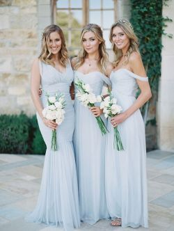 Small Of Dusty Blue Bridesmaid Dresses