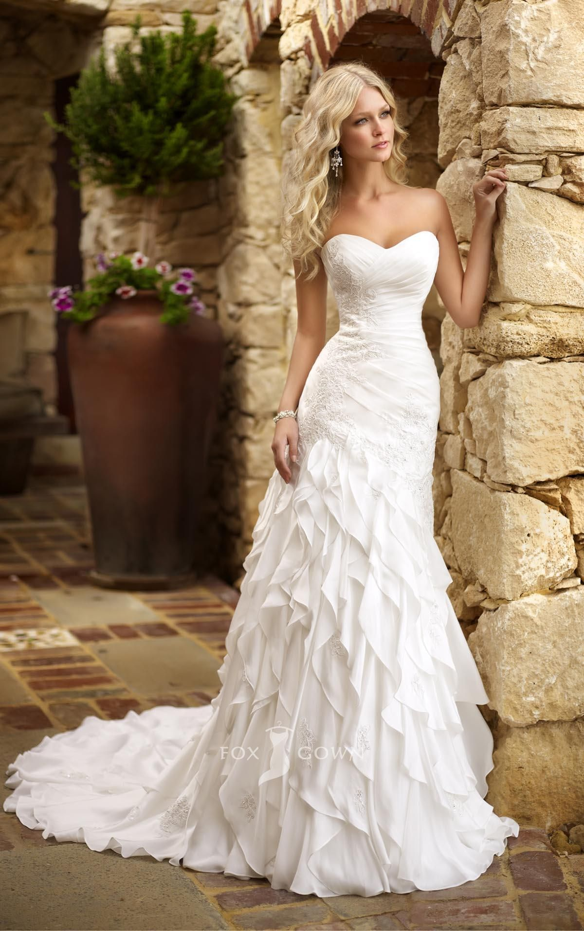 wedding dress skirt fabulous sweetheart strapless fit and flare tiered ruffle skirt wedding dress