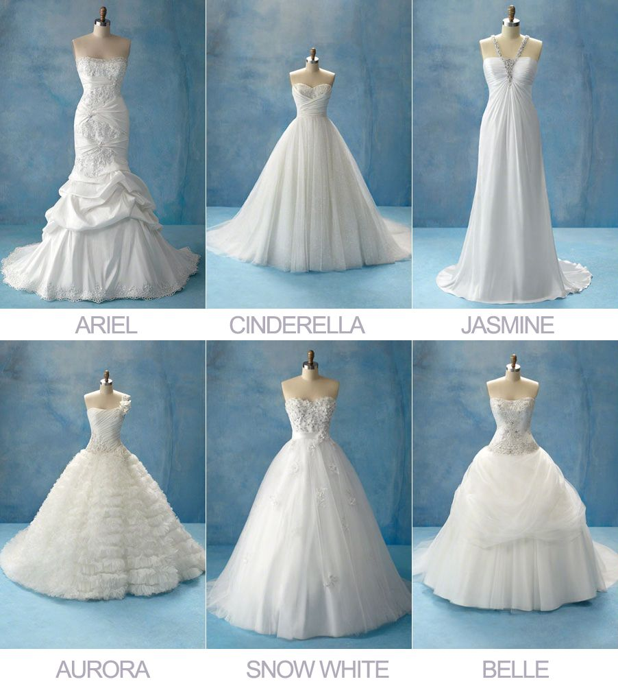 cinderella inspired wedding dress Disney Princesses Wedding Dress Collection by Alfreda Angelo Love the Belle one