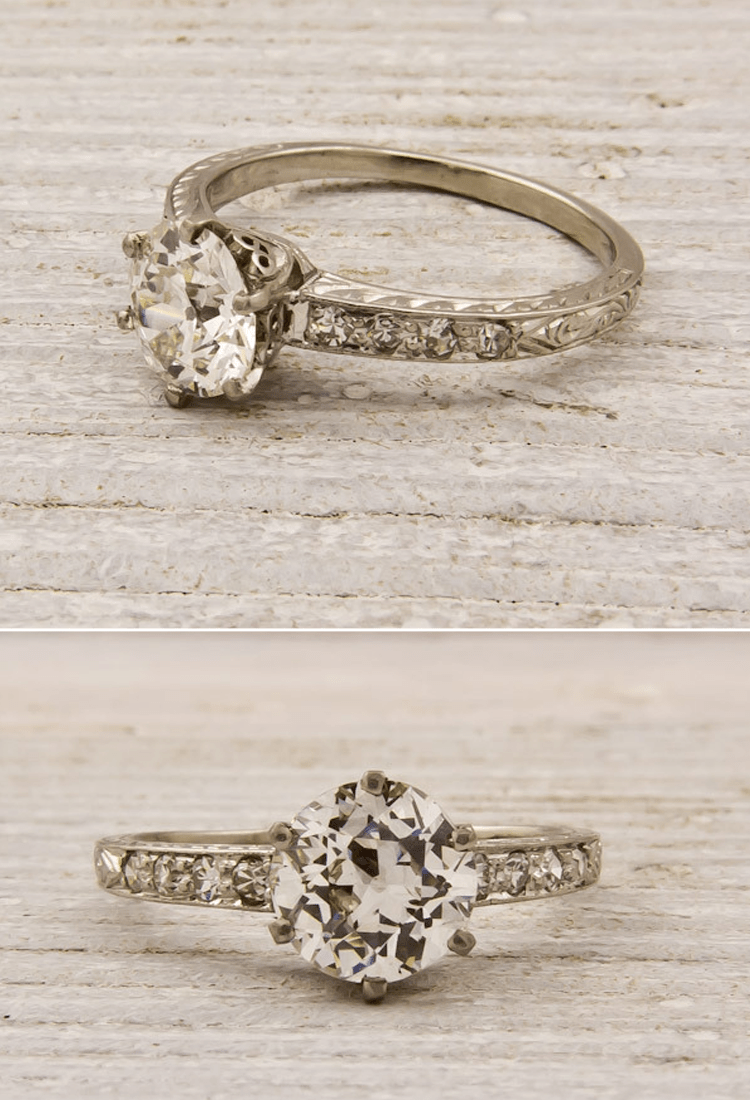 vintage wedding rings Antique engagement ring Nikki I don t want to get married again