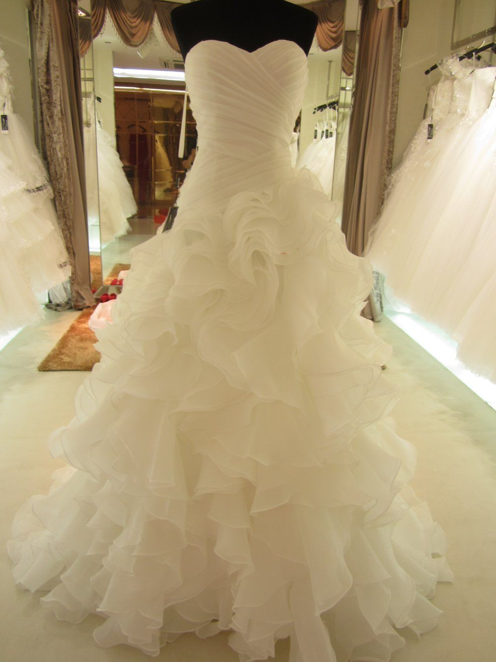 wedding dresses for sale Hot Sale Real Picture Organza Ruffle Wedding Dress Bridal Gown sl on